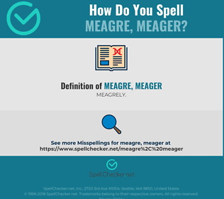 Correct spelling for meagre, meager