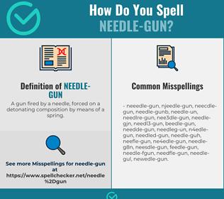 Correct spelling for needle-gun