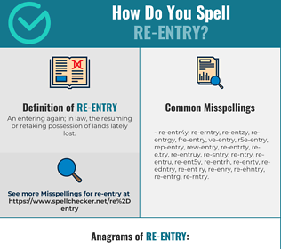 Correct spelling for re-entry