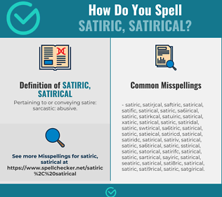 Correct spelling for satiric, satirical