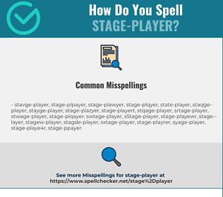 Correct spelling for stage-player