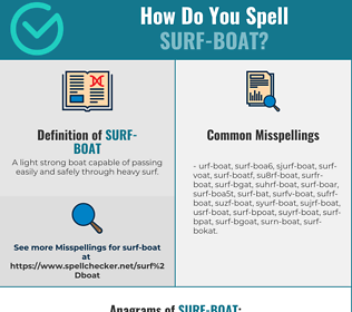 Correct spelling for surf-boat