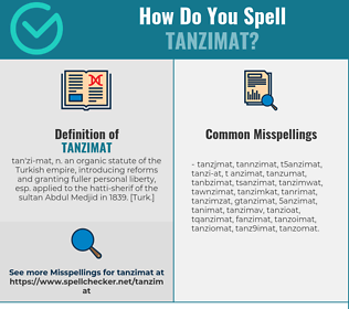 Correct spelling for tanzimat