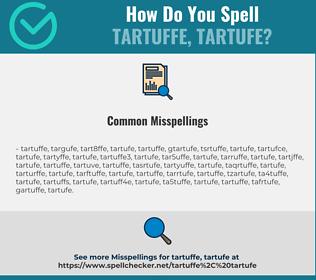 Correct spelling for tartuffe, tartufe