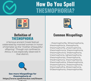 Correct spelling for thesmophoria