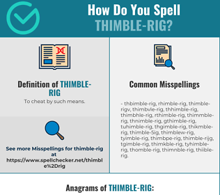 Correct spelling for thimble-rig