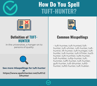 Correct spelling for tuft-hunter