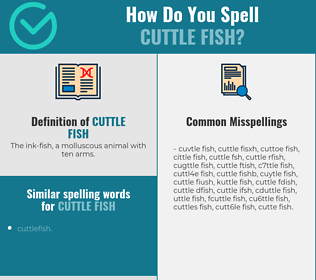 Correct spelling for cuttle fish