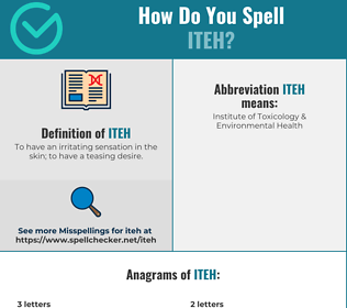 Correct spelling for iteh