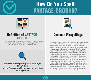 Correct spelling for vantage-ground