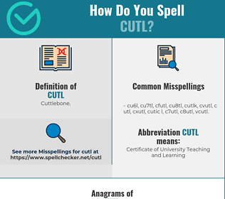 Correct spelling for cutl