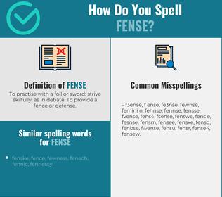 Correct spelling for fense