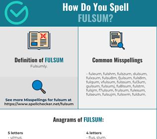 Correct spelling for fulsum