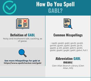 Correct spelling for gabl