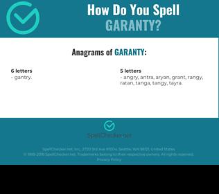 Correct spelling for garanty