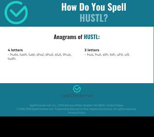 Correct spelling for hustl