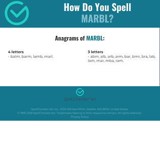 Correct spelling for marbl