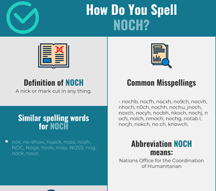 Correct spelling for noch