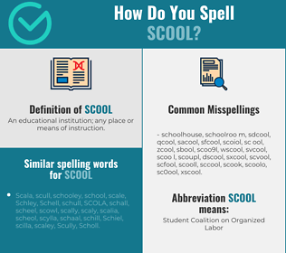 Correct spelling for scool