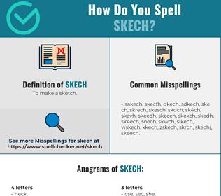 Correct spelling for skech