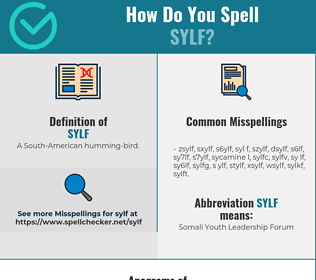 Correct spelling for sylf