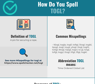 Correct spelling for togl