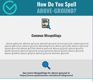 Correct spelling for Above-ground