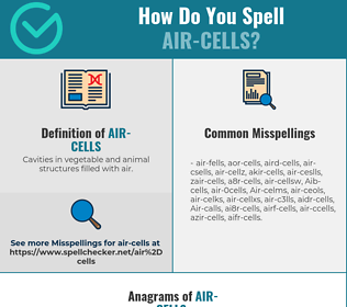 Correct spelling for Air-cells