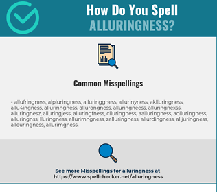 Correct spelling for Alluringness