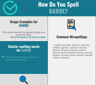 Correct spelling for Barbe