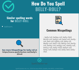 Correct spelling for Belly-roll