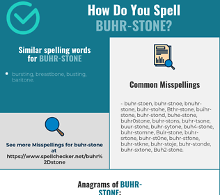 Correct spelling for Buhr-stone