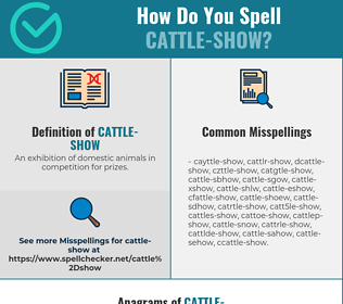 Correct spelling for Cattle-show