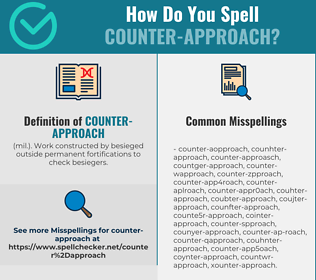 Correct spelling for Counter-approach