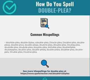 Correct spelling for Double-plea