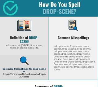 Correct spelling for Drop-scene