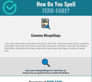 Correct spelling for Ferd-fare