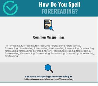 Correct spelling for Forereading