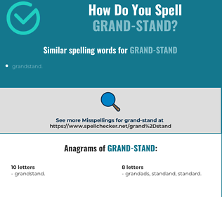 Correct spelling for Grand-stand