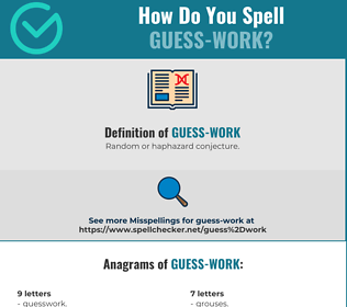 Correct spelling for Guess-work
