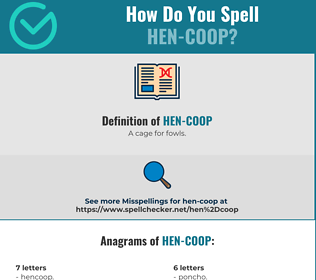 Correct spelling for Hen-coop