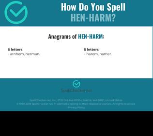 Correct spelling for Hen-harm