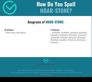 Correct spelling for Hoar-stone