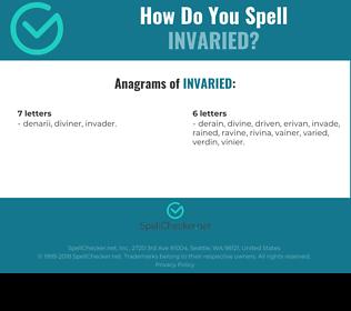 Correct spelling for Invaried