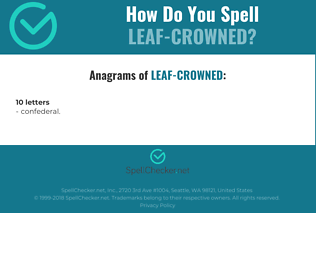 Correct spelling for Leaf-crowned