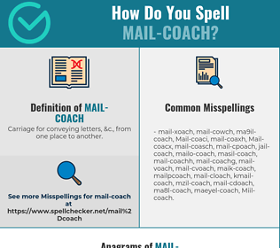 Correct spelling for Mail-coach