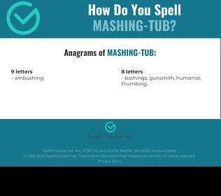 Correct spelling for Mashing-tub