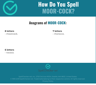 Correct spelling for Moor-cock