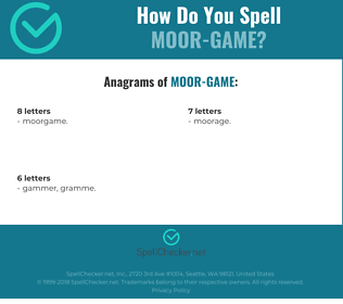Correct spelling for Moor-game