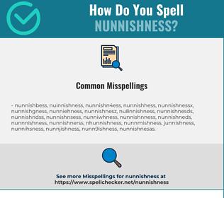Correct spelling for Nunnishness